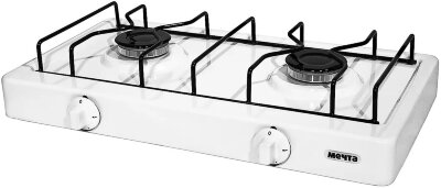 Плита газовая настольная Мечта 200М-W 2 конфорки, 50x27 cм, БЕЛАЯ