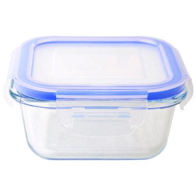 Контейнер 0.8 л Mallony CRISTALLINO из жаропрочного стекла для хранения и разогрева еды в СВЧ с крышкой из пластика