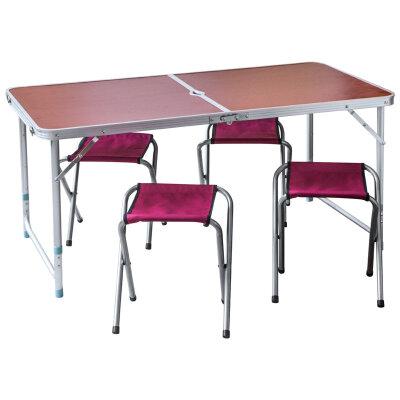 Стол походный с 4 стульями CHO-150-E 120*60*56cm/70 см коричневый