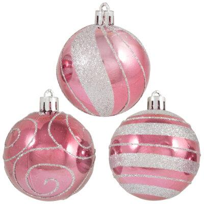 Набор елочных новогодних шаров 6 см SYCB17-474  3 шт