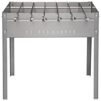 Мангал 6 шампуров разборный для пикника на высоких ножках Ж-042 50х50х30 см, сталь 0.5 мм