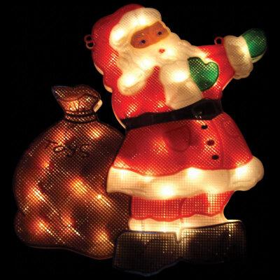 Световое панно новогоднее 43х29 см «Дед Мороз» P-SC 35 мини ламп
