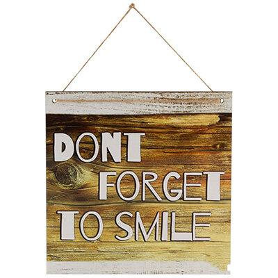 Табличка для интерьера Don't forget to smile ИТ-014