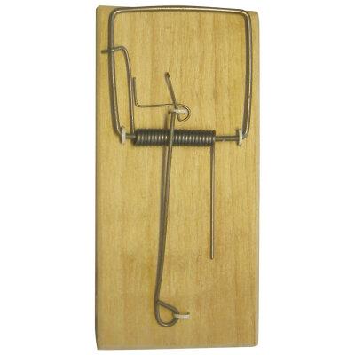 Мышеловка капкан для мышей деревянная 12.5х6х1.6 см