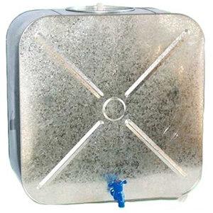 Бак оцинкованный 100 л плоский с краном для воды, 58.5х31х58.5 см