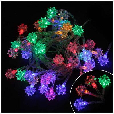 """Светодиодная гирлянда мигающая многоцветная """"Алмазы"""" LED-DIAMOND-40-3-MC 3 метра 40 ламп 8 режимов"""