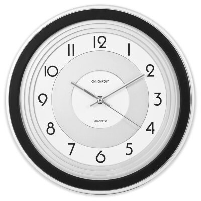 Часы круглые настенные 32 см ENERGY ЕС-10 с плавным ходом на батарейке