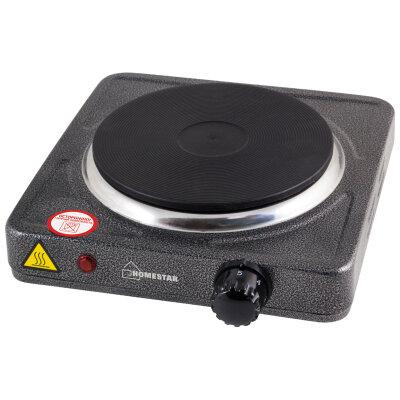 Электроплитка настольная чугунная HOMESTAR HS-1102 одноконфорочная, цвет Черный