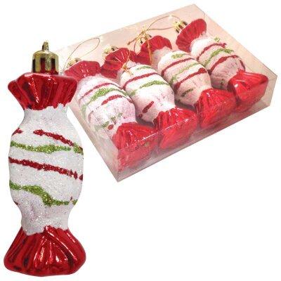 Набор новогодних украшений Конфеты HV9004-334/4S03 4 штуки 9 см