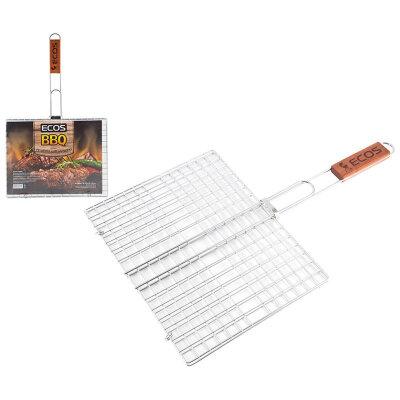 Универсальная решетка для барбекю и мангала ECOS-22012D 31х24х1.5 см, хромированная сталь