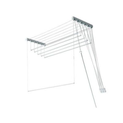 ЛИАНА Сушилка для белья потолочная 1.4 м 5 стержней, Пластик