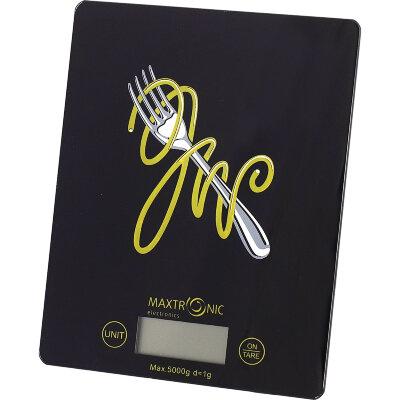 Весы бытовая кухонные электронные до 5 кг MAXTRONIC MAX-JW-201E черные