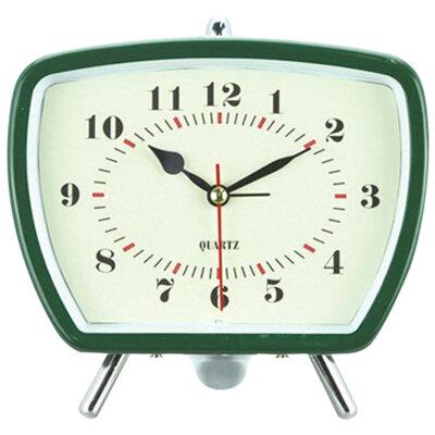 Часы будильник настольные с крупными цифрами на батарейке ENERGY EA-01, 14.6x6.6x14.1 см, Зеленый
