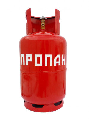 Баллон газовый под пропан на 12 литров с вентилем ВБ-2, Беларусь