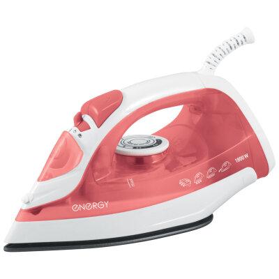 Утюг с тефлоновым покрытием 1800 Вт ENERGY EN-301R цвет Красный, паровой удар, самоочистка