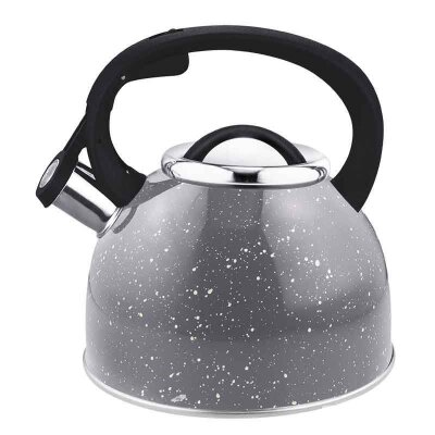 Чайник на плиту 2.5 л Arte Mallony со свистком серый с белыми точками