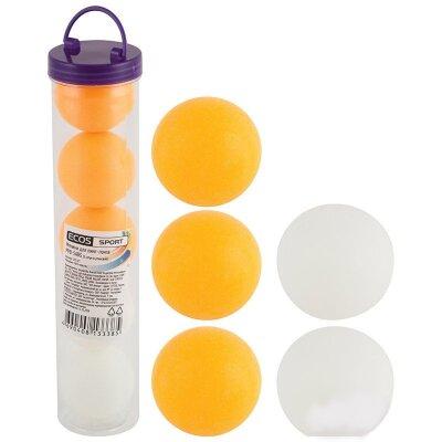 Теннисные шарики для настольного тенниса PPB-5ABS набор 5 штук ECOS