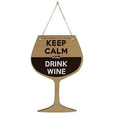 Табличка для интерьера Keep Calm and drink Wine ИТ-037