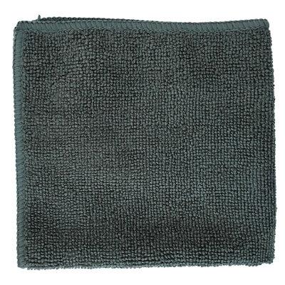 Салфетка из микрофибры 30х30 см Рыжий КОТ M-01 для сухой и влажной уборки , Графит