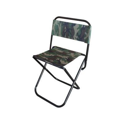 Складной стул походный со спинкой для рыбалки до 80 кг ECOS DW-1004С камуфляж