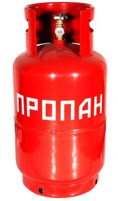 Баллон под пропан стальной сварной 27 литров с вентилем ВБ-2, Беларусь