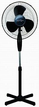 Вентилятор бытовой напольный, 3 скорости, поворотная система, регулировка высоты MAX-1619-3 черный