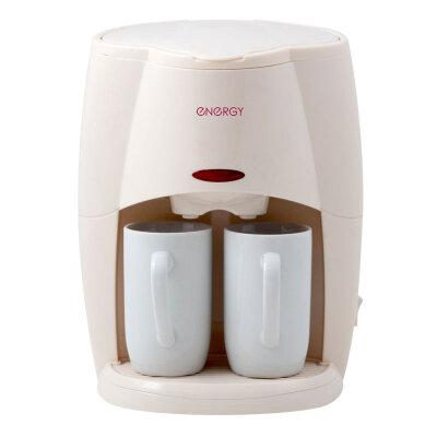 Кофеварка на 2 чашки капельная с постоянным фильтром ENERGY EN-601 Кремовая