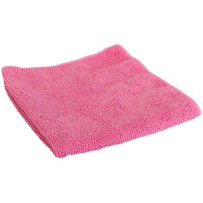Салфетка из микрофибры  30х30 см Рыжий КОТ M-01-P для уборки помещения , цвет: розовый