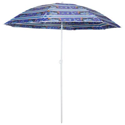 Пляжный зонт с наклоном складной ECOS SDBU001B высота 1.95 м, диаметр 1.65 м