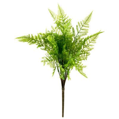 Искусственная ветка папоротника Даваллия для декора 45 см пластик