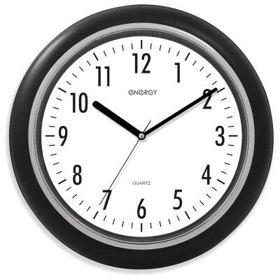 Часы настенные круглые 25 см ENERGY ЕС-07 бесшумные, на батарейке