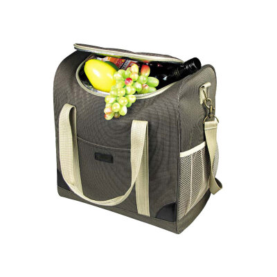 Сумка термос холодильник для еды на 25 л ECOS ML12-25L 36х21х38 см, коричневая