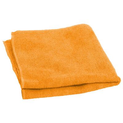 Салфетка  из микрофибры 30х30 см Рыжий КОТ M-01 для влажной и сухой уборки оранжевая