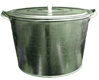 Бак оцинкованный 25 л для белья с крышкой, Лысьва 39х26 см