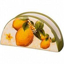"Салфетница для бумажных салфеток ""Лимоны"" 358-1130, керамика"
