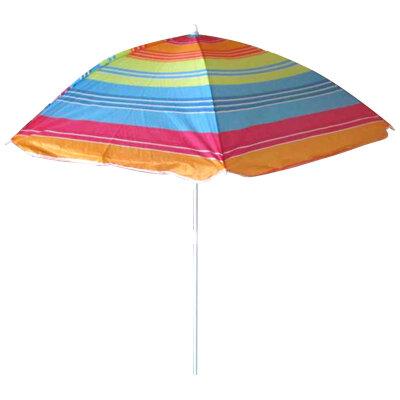 Зонт пляжный складной от солнца ECOS BU-01 высота 145 см, купол 130x6 см, цветной