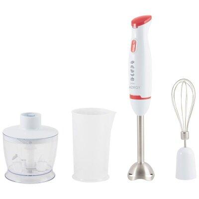 Блендер погружной ручной 300 Вт 1 скорость ENERGY EN-125 венчик, измельчитель, мерный стакан для смешивания