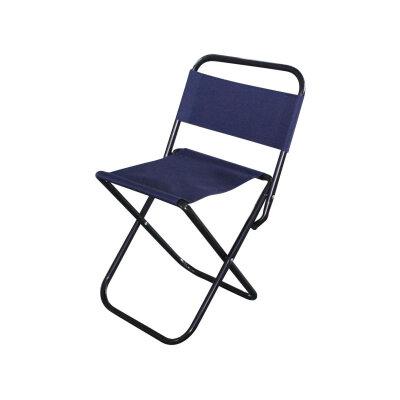 Складной стул походный со спинкой до 80 кг ECOS DW-1004С темно-синий