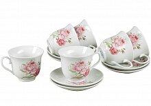 """Чайный набор 12 предметов """"Розы"""""""