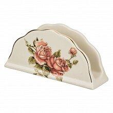 """Салфетница для бумажных салфеток """"Корейская роза"""" 86-1314, керамика"""