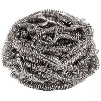 Мочалка металлическая для посуды 12 гр Рыжий Кот спираль