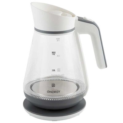 Чайник электрический 1.5 л ENERGY E-297 стекло пластик цвет бело-серый