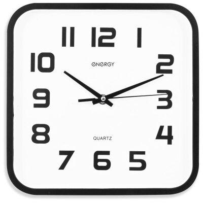 Часы квадратные настенные 25х25 см ENERGY ЕС-08 бесшумные офисные