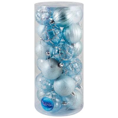 Набор елочных новогодних шаров 6 см SYCB17-321  24 шт