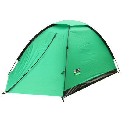ECOS Соболь 2 Палатка походная 2-х местная, москитная сетка, 1-о слойная, 270х150х120 см