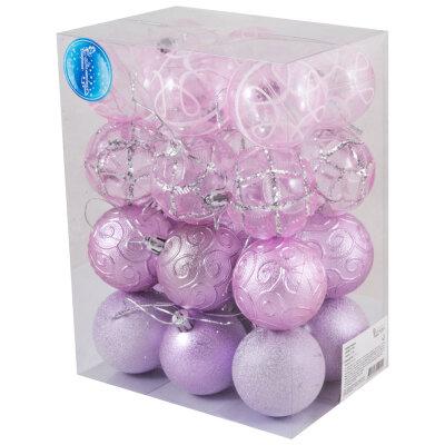 Набор новогодних шаров на елку 6 см SYCB17-338 24 шт