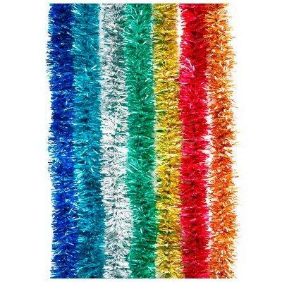 Елочная мишура новогодняя на проволоке 1.8 метра 6 слоев