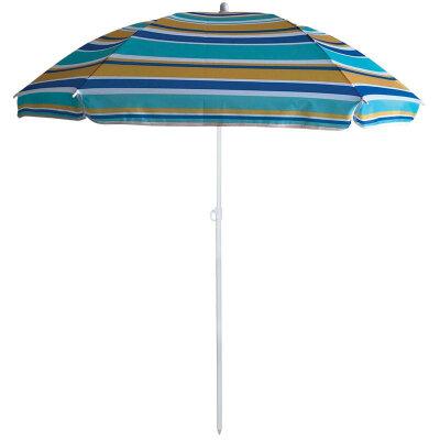 Зонт от солнца пляжный складной ECOS BU-61 диаметр 130 cм, штанга 170 см