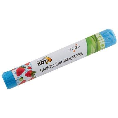 Пакеты для заморозки РЫЖИЙ КОТ 25x32 см 3 л 30 штук в рулоне ПНД