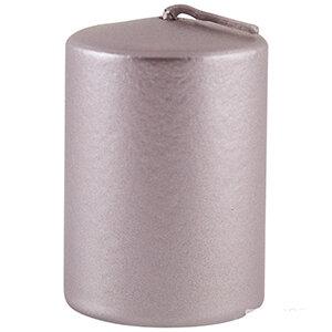 Свеча столбик 40*60мм лакированная розовый сатин